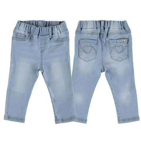 Girls Light Basic Denim Pants