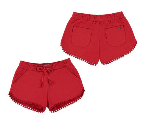 Red Chenille Shorts