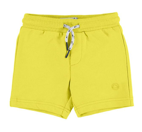 Yellow Basic Fleece Shorts