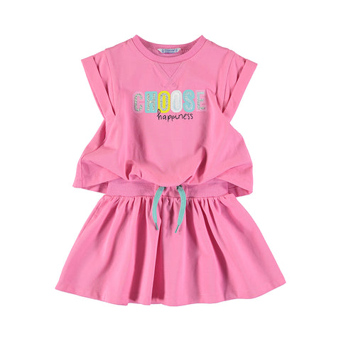 Girls Pink Active Dress