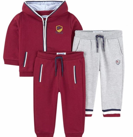 Burgundy 2 Pants Tracksuit