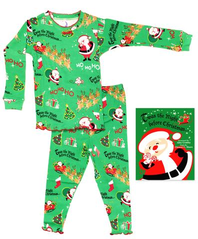 Girl Ho Ho Ho Long John Pajama with Book