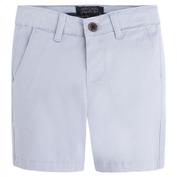 Grey Basic Twill Chino Shorts