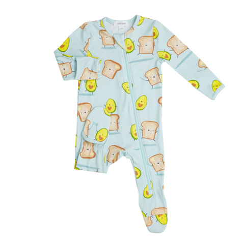 Avocado+Toast Zipper Footie