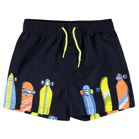 Boys Navy Bathing Suit Shorts