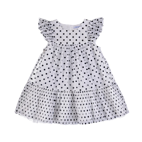 Girls Tulle Polka Dots Dress
