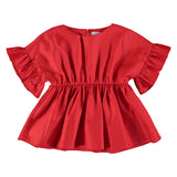 Girls  Poppy Blouse w Ruffle Sleeve