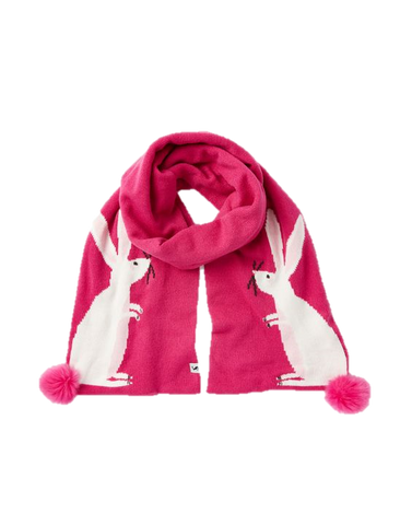 Bright Pink Bunny Scarf