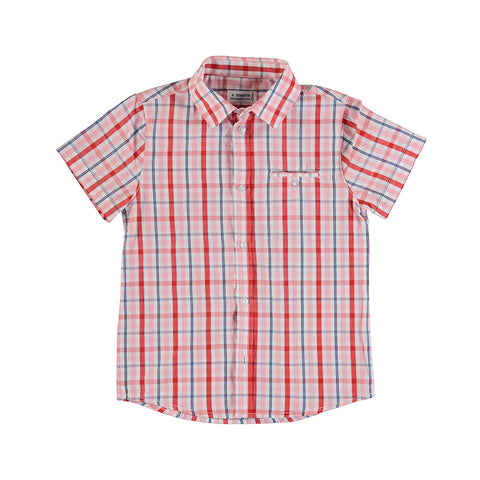Boys Cyber Red Short Sleeve Shirt