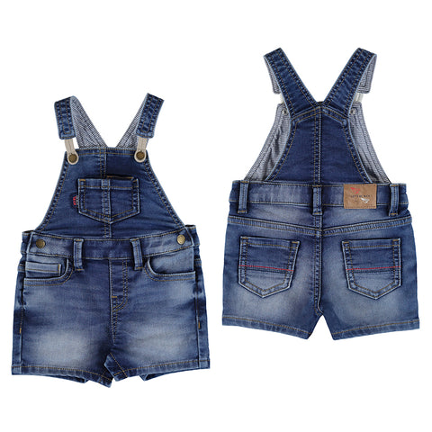 Denim Boys Soft Denim Short Overall