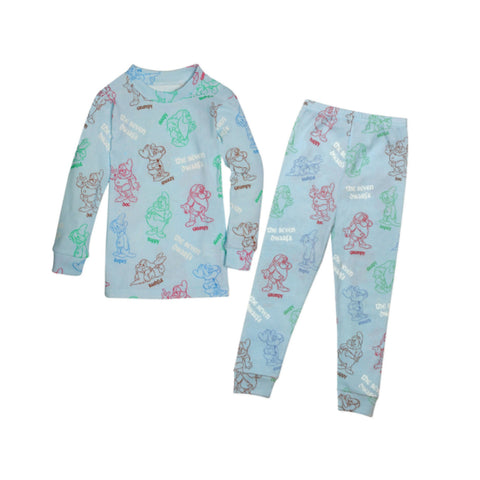 Blue Seven Dwarfs Long Johns with Book