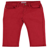Red 5 Pocket Regular Fit Pants