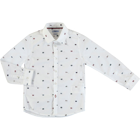 Boys White Long Sleeve