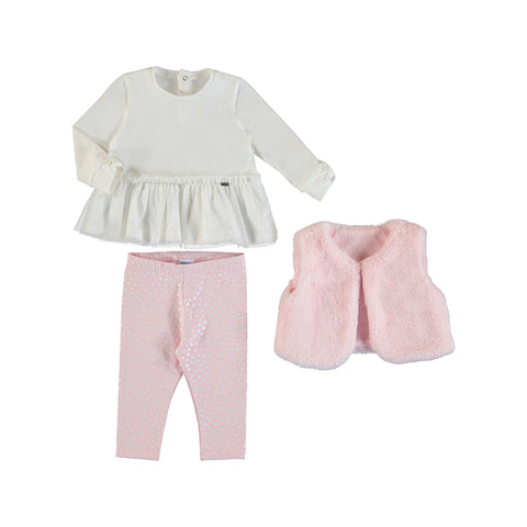 Girls Legging w Vest Set