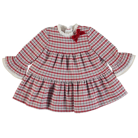 Girls Houndstooth Check Dress