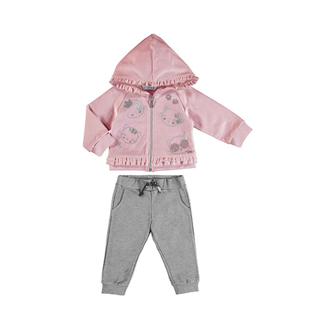 Girls Kitty Sweatsuit
