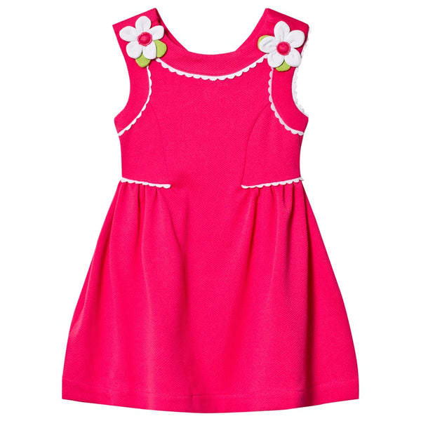 Fuchsia Pique Dress