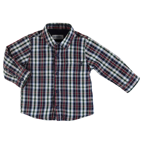 Boys Blue Lined Over shirt