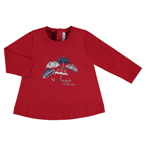 Girls Umbrella Long Sleeve Shirt