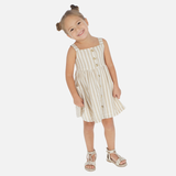 Sand Striped Linen Dress