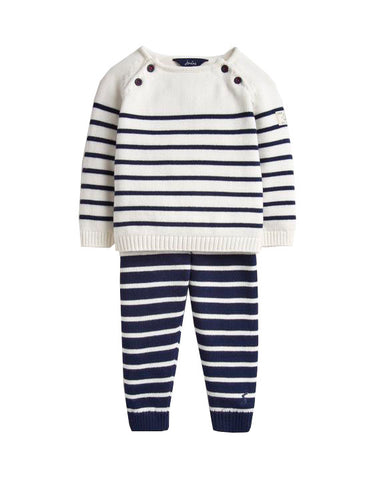 George Navy Stripe Set