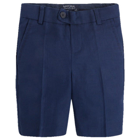 Navy Jacquard Shorts