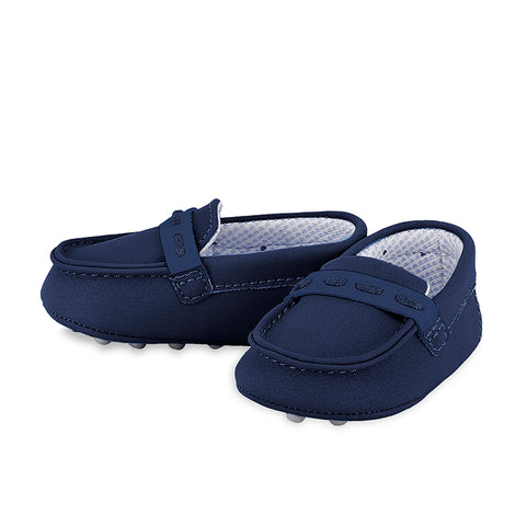 Boys Navy Moccasins