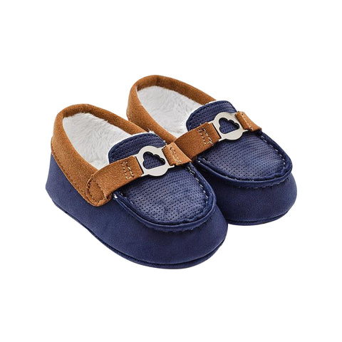 Navy/Brown Moccasin