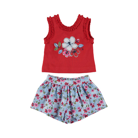 Girls Poppy Printed Shorts Set
