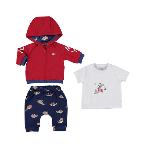 Boys Tracksuit with Shirt Set