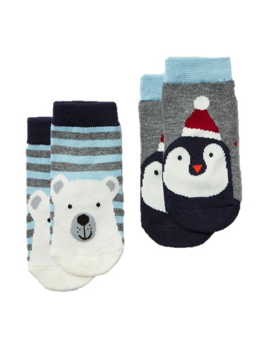 Multi Bear Penguin Socks