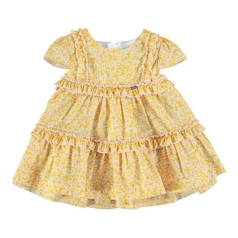 Girls Voile Mustard Dress