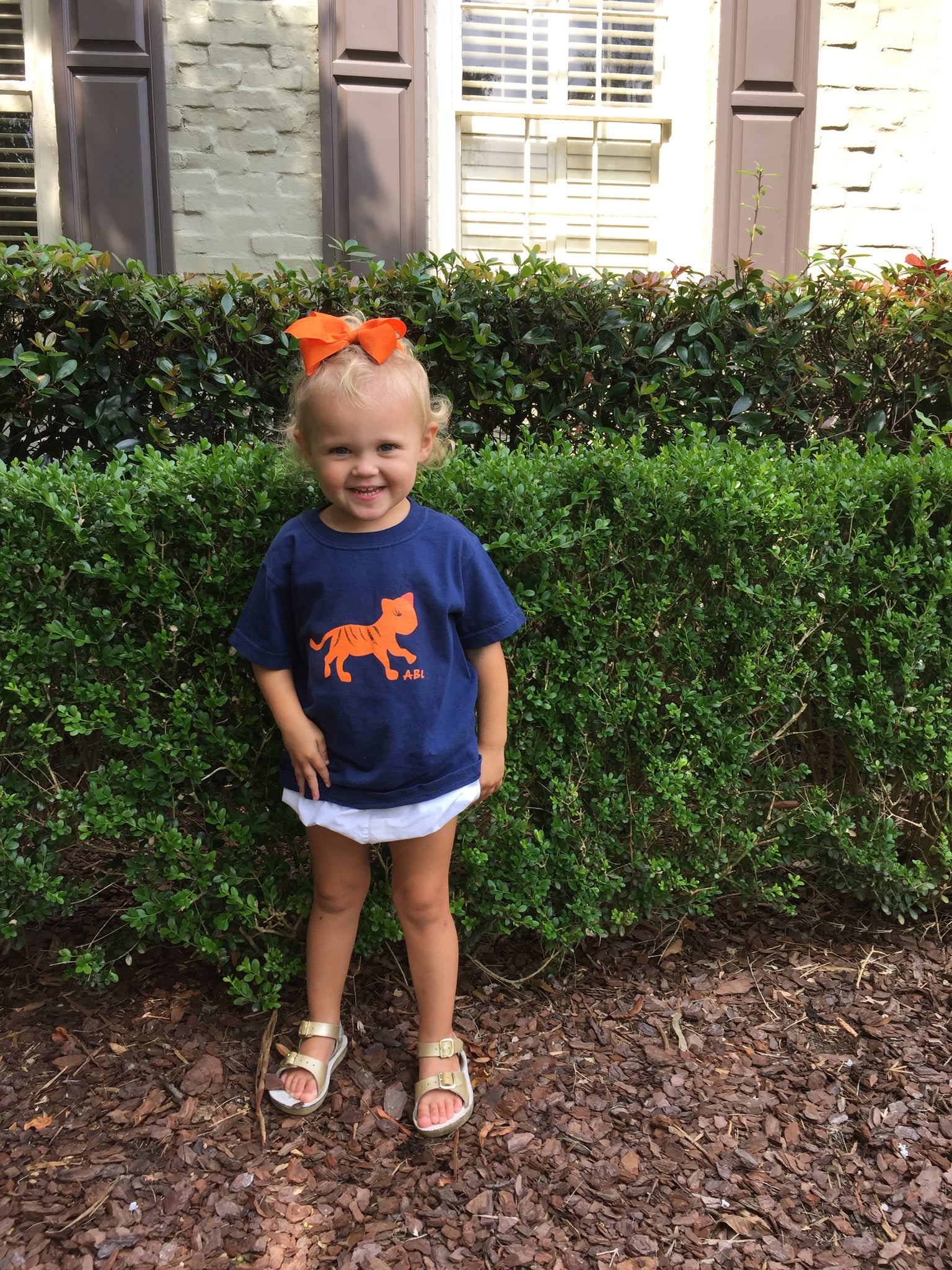 ABL Little Miss Navy Tiger Spirit Tee