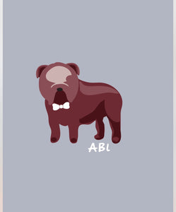 ABL Bulldog Pup Grey/Burgundy Spirit Tee
