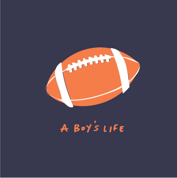 A Boy's Life - Navy Football Spirit Tee