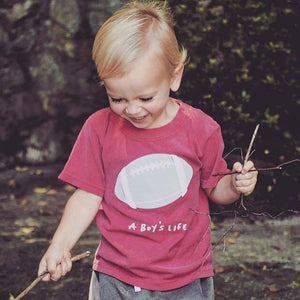 A Boy's Life - Crimson Football Spirit Tee