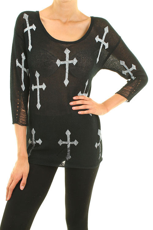 Faithfully Yours Cross Sweater