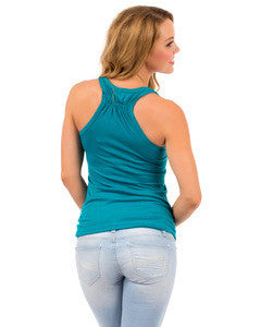 LOVE TEAL RACER BACK TANK
