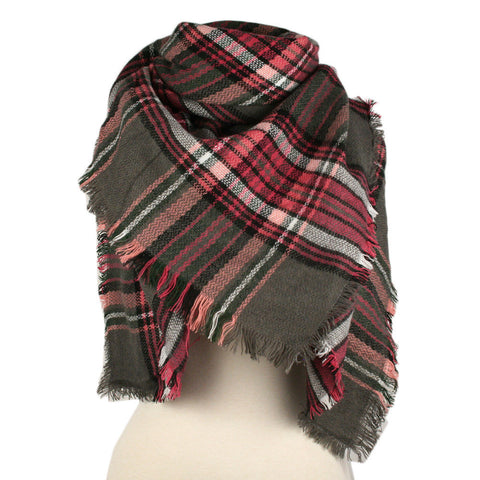WRAPPED IN LOVE PLAID SCARF