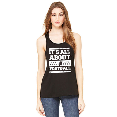 IT'S ALL ABOUT FOOTBALL TANK IN BLACK