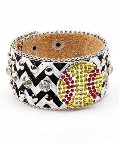 SOFTBALL CHEVRON CUFF BRACELET