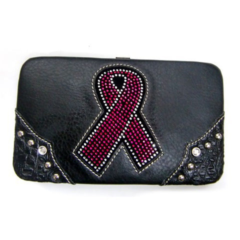 PINK RIBBON BREAST CANCER AWARENESS WALLET