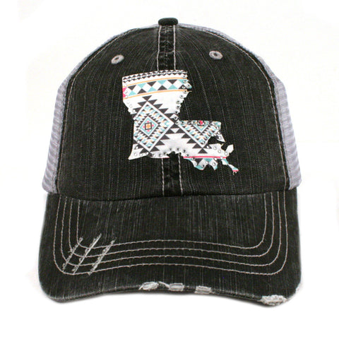 LOUISIANA AZTEC STATE TRUCKER HAT