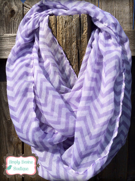 CHEVRON INFINITY SCARF ASSORTED COLORS