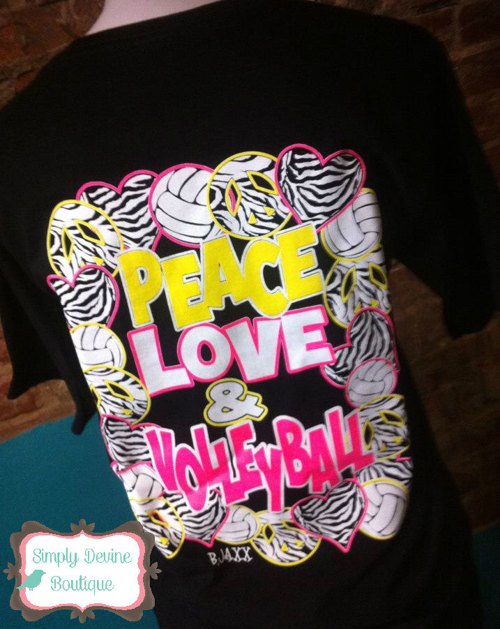 PEACE LOVE & VOLLEYBALL TEE