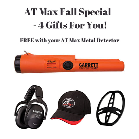 AT Max Metal Detector with Free Pro-Pointer AT Z-Lynk