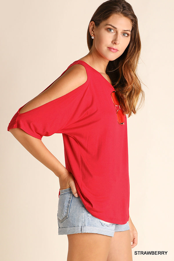 Strawberry Red Top - Modish Boutique