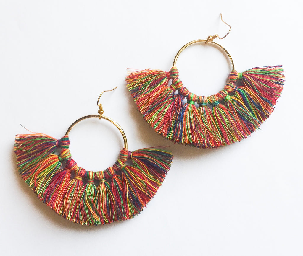 Colorfully Fun Tassel Earrings - Modish Boutique