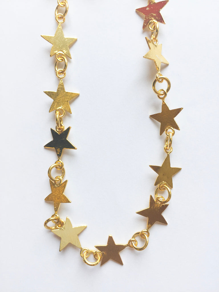 Gold Celeb Star Choker - Modish Boutique