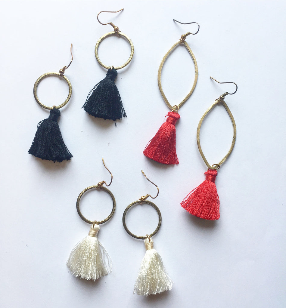GameDay Tassel Earrings - Modish Boutique